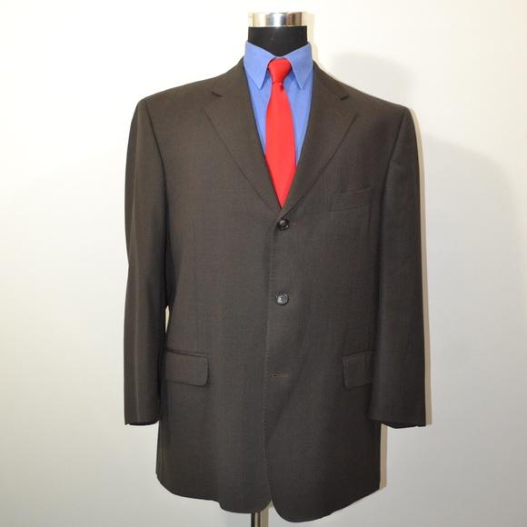 Baroni Other - Baroni 48R Sport Coat Blazer Suit Jacket Dark Brow